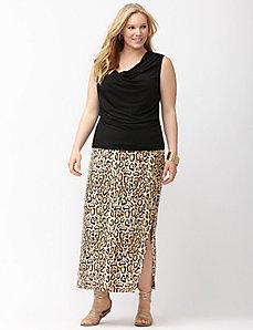 Simply Chic matte Jersey animal print maxi skirt