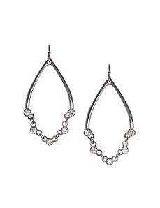 Chain teardrop earrings