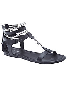 Beaded ankle strap sandal