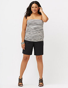 Wave stripe tube top