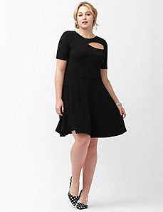Cut out fit & flare dress by ABS Allen Schwartz