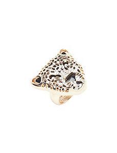 Cheetah head ring