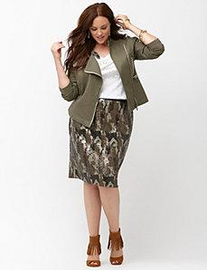 Olive peplum jacket