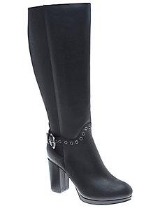 Ceri leather grommet boot