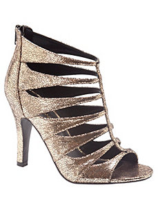 Metallic strappy heel