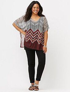 Chevron drama top