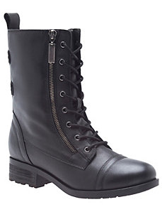 Ravenna leather combat boot