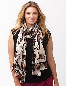 Tapestry floral scarf