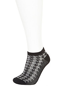 Houndstooth low cut sock 3-pack