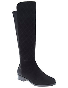 Lina quilted suede boot