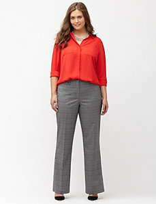 Lena Tailored Stretch plaid trouser
