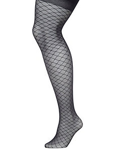 Lattice fishnet control top tights