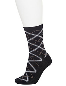 Plaid crew socks 2-pack