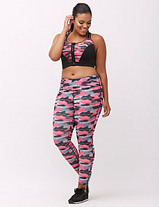 Combat Cancer camo wicking active legging