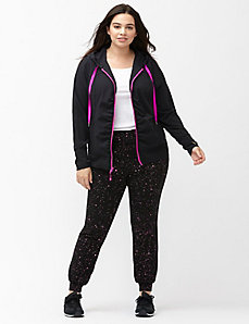 Performance Stretch ruched active jacket