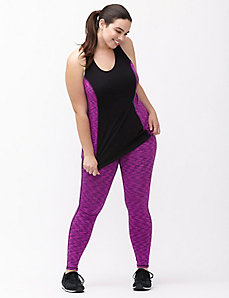 Wicking space dye active legging