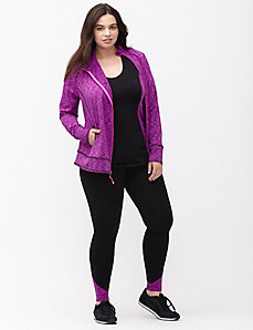 Wicking asymmetric active jacket