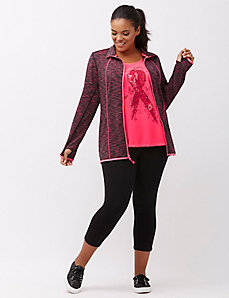 Space dye wicking active jacket