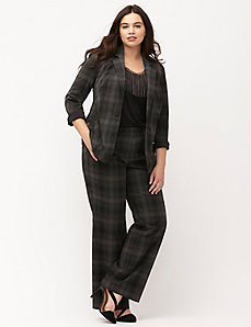 Plaid Tailored Stretch suit jacket