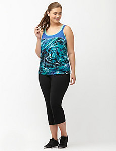 Printed layered look active tank