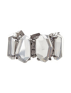 Mirrored stone stretch bracelet