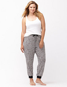 Animal print sleep jogger