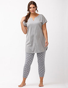 Polka dot legging PJ set