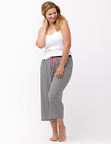 Houndstooth cropped sleep pant