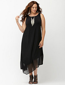 Simply Chic matte Jersey layered dress