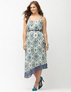 Chiffon hem asymmetric slip dress