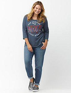 New England Patriots 3/4 sleeve tee