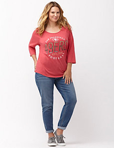 San Francisco 49ers 3/4 sleeve tee