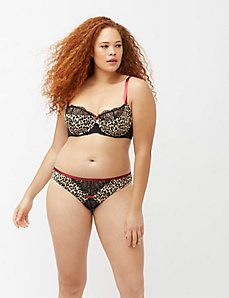 Leopard tanga panty