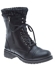 Sock top combat boot