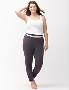 Mesh inset sleep pant