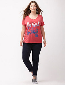 New York Giants glittered V-neck tee