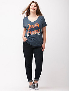 Denver Broncos glittered V-neck tee