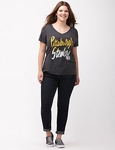Pittsburgh Steelers glittered V-neck tee