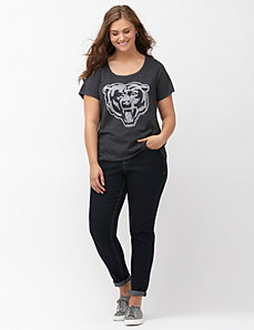 Chicago Bears burnout logo tee