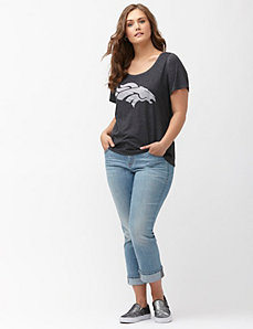 Denver Broncos burnout logo tee