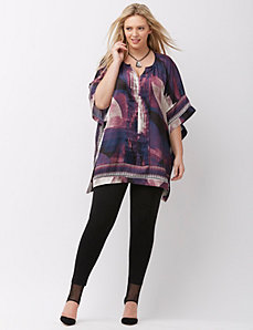 Border print blouse by Mynt 1792