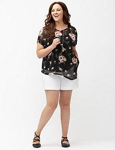 Asymmetric floral top