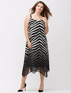 Zebra print slip dress