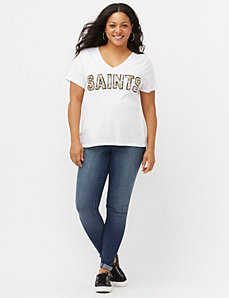 New Orleans Saints sequin tee