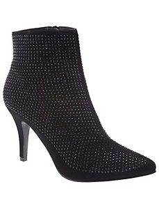 Embellished heeled ankle boot