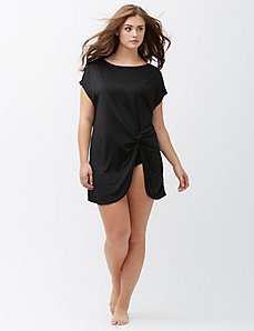 Twist front swim cover-up