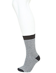 Textured stripe crew boot socks