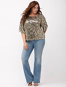 6th & Lane Sequin dolman top