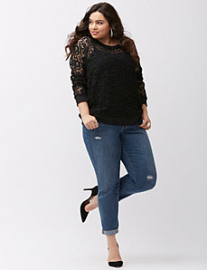 Lace sweatshirt