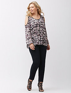 Floral cold shoulder top by DKNY JEANS
